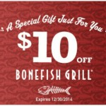 Get a $10 Bonefish Grill Coupon December 2014