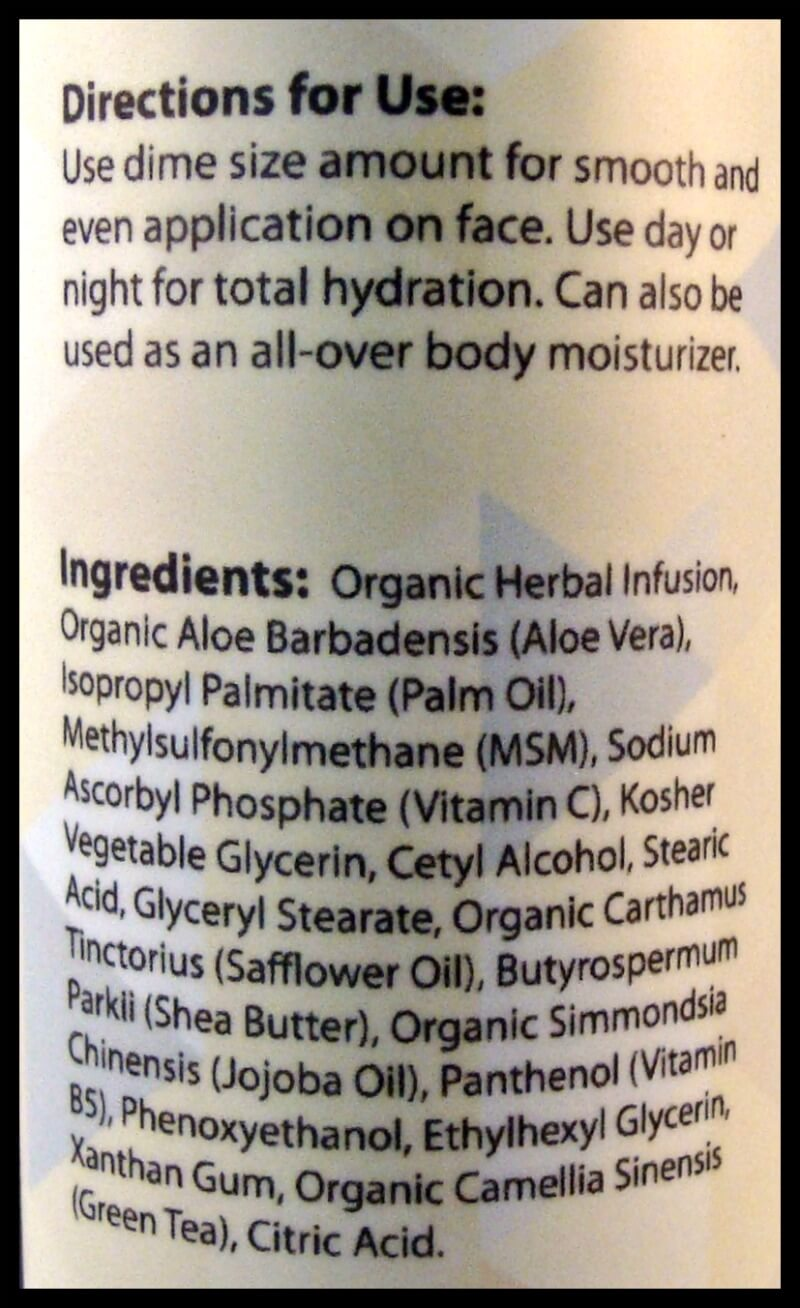 Foxbrim Vitamin C Lotion Directions and Ingredients