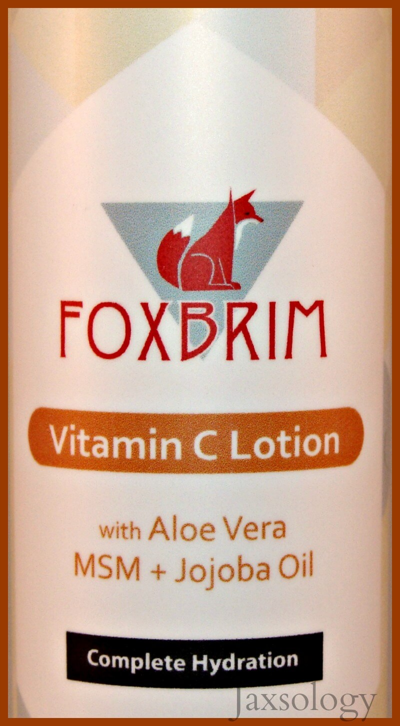 Foxbrim Vitamin C Lotion Label