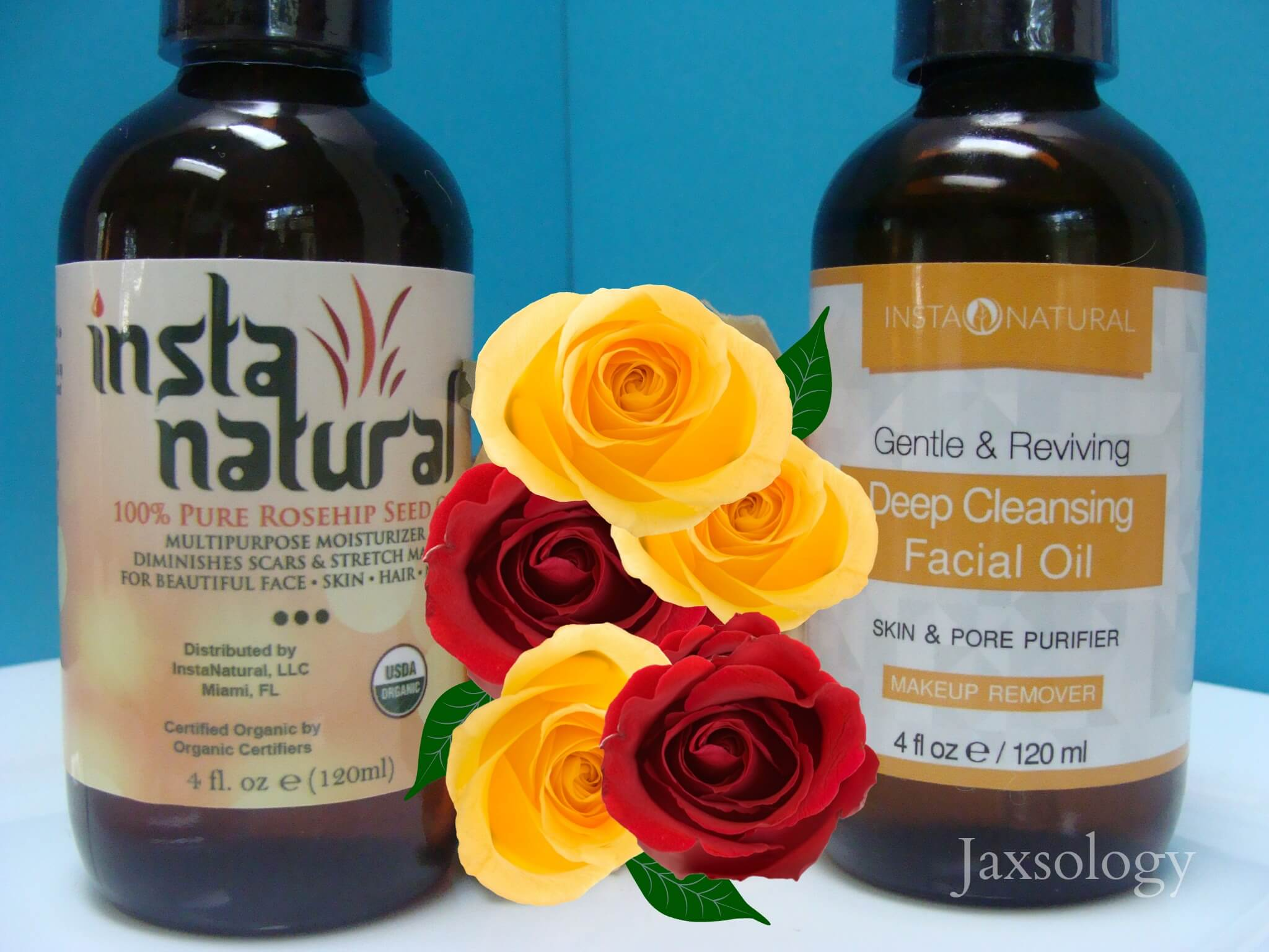 InstaNatural Deep Cleansing Facial Oil and Rosehip Oil