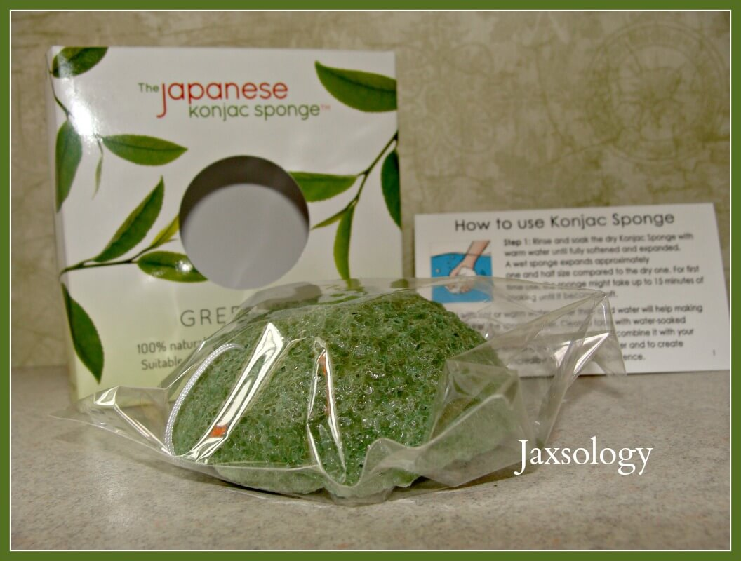 Japanese Konjac Sponge out of box with instructions