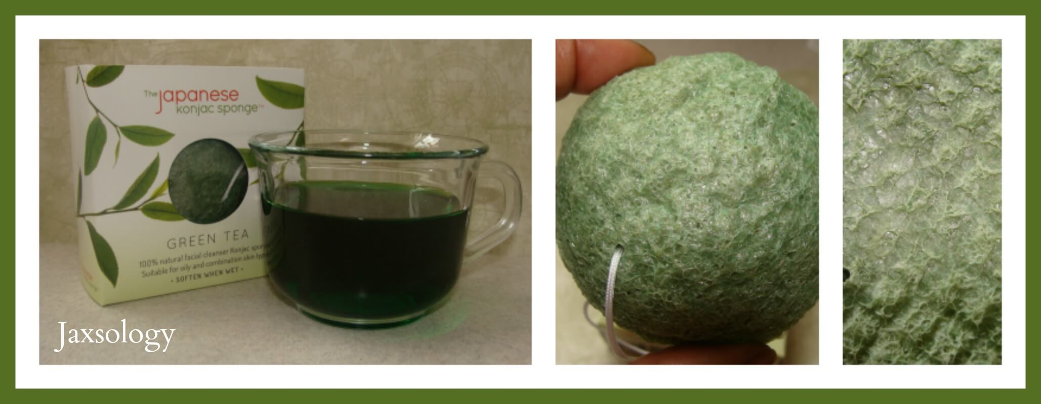 Japanese Konjac Sponge up close