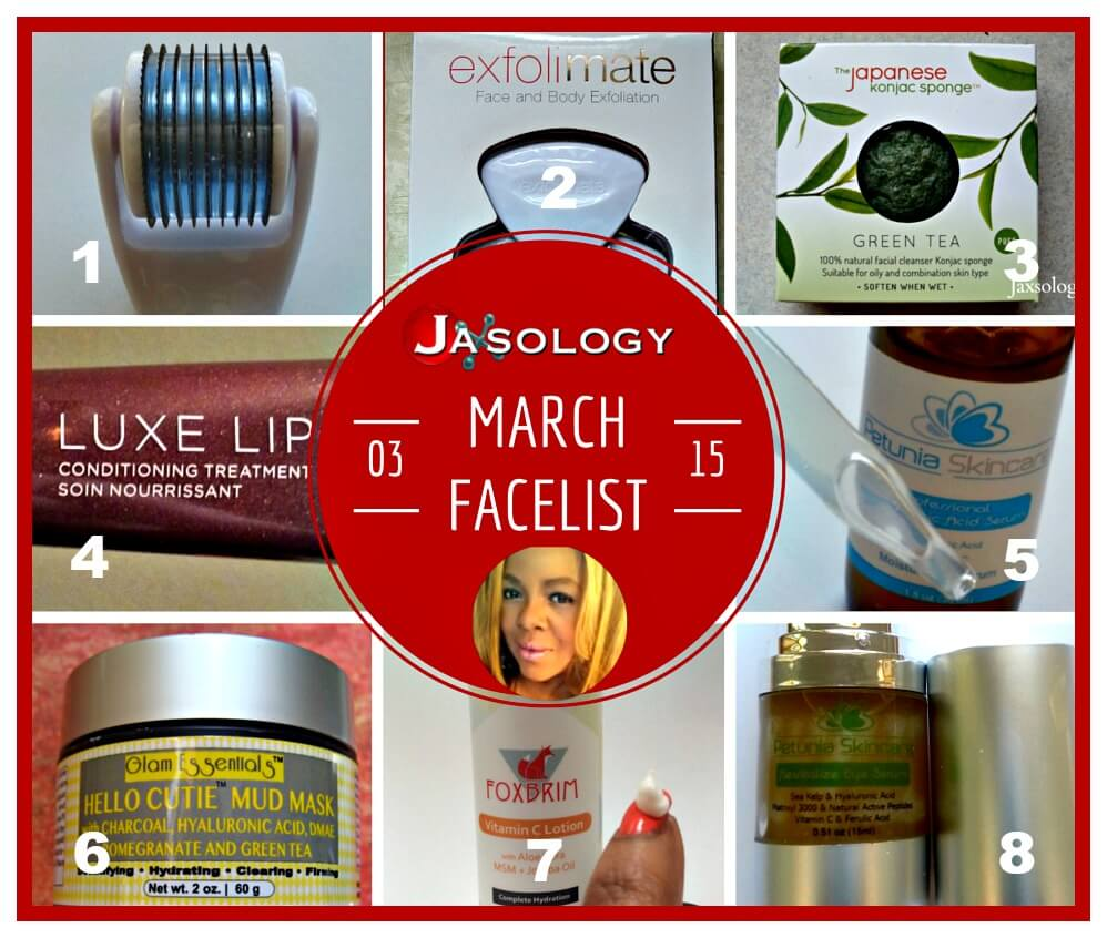 March Facelist 2015 Great Beauty Products recommended by Jaxsology