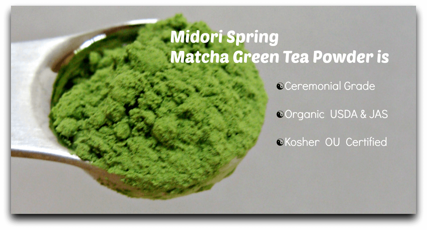 Midori Spring Matcha Green Tea Powder Graphic
