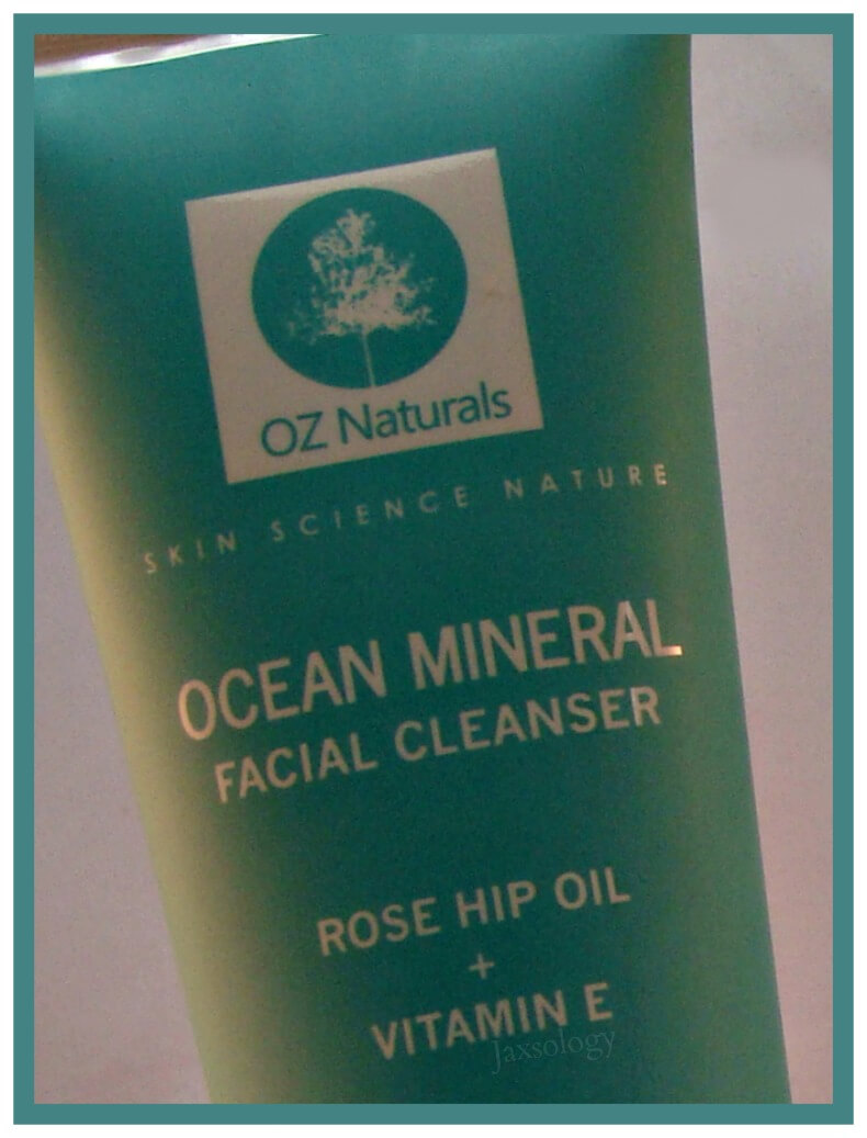 Oz Naturals Ocean Mineral Facial Cleanser Label