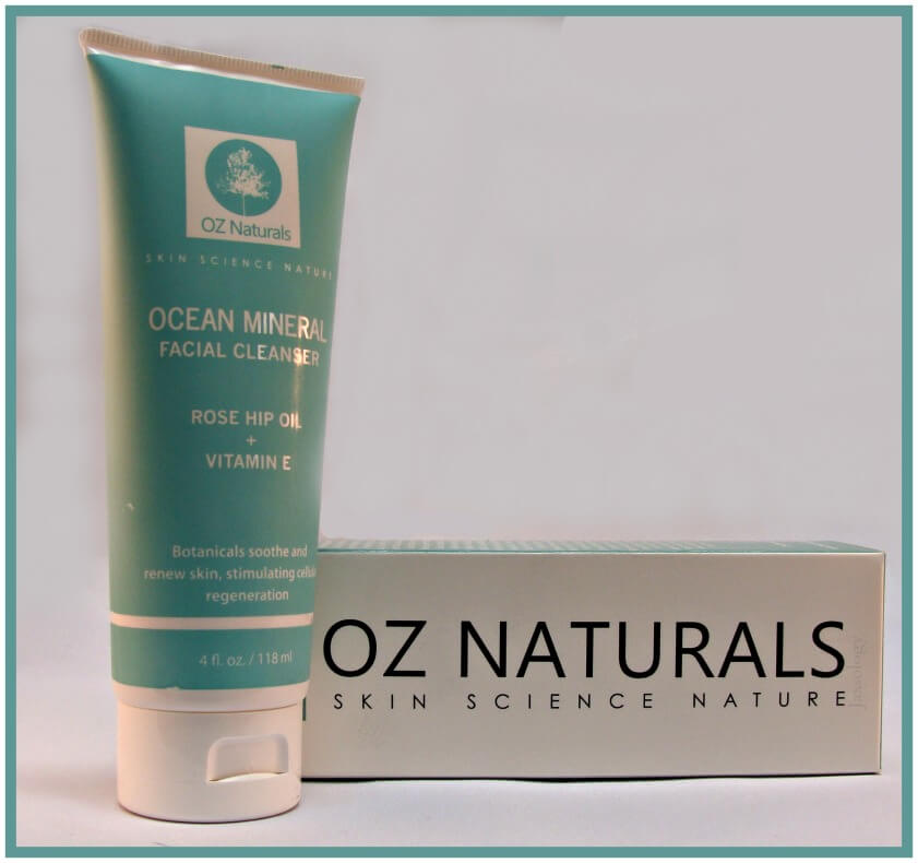 Oz Naturals Ocean Mineral Facial Cleanser Bottle and Box