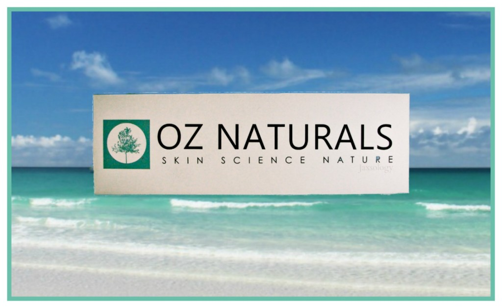 Oz Naturals Ocean Mineral Facial Cleanser Box on Beach