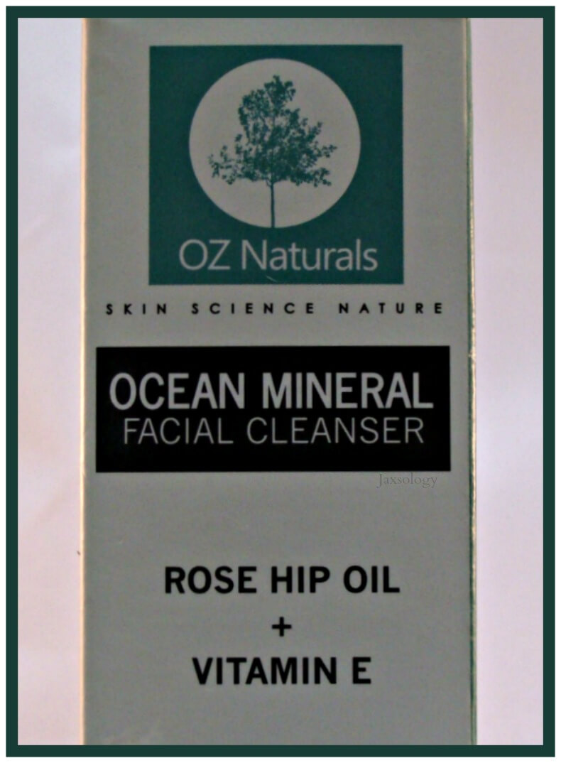 Oz Naturals Ocean Mineral Facial Cleanser Box Front